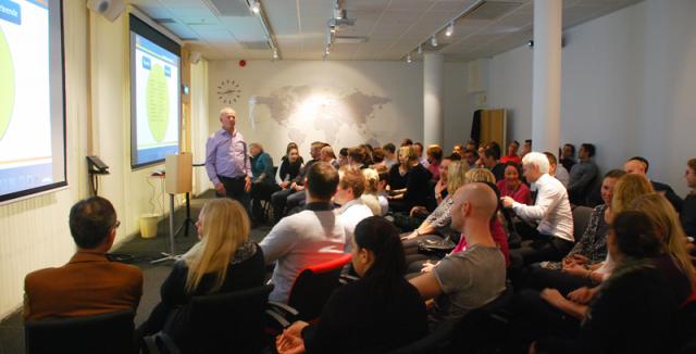 Ingvar Bengtson föreläser för Schenker Göteborg